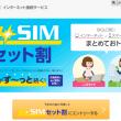 【ビッグローブ光】SIMカードセット割引、月額料金が毎月300円安くなる特典